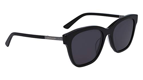 Calvin Klein EYEWEAR Womens CK19524S Sunglasses, BLACK, 5519