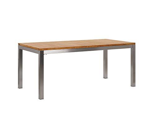 Gartentisch aus Teakholz Beine aus Edelstahl 180 cm Grosseto