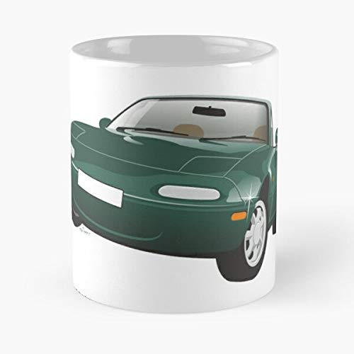 5TheWay Mx Mug Mazda Miata Green Best 11 oz Kaffeebecher - Nespresso Tassen Kaffee Motive