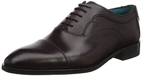 Ted Baker Fually, Zapatos de Cordones Oxford Hombre, Rojo (Dk Red Drk Red), 42 EU