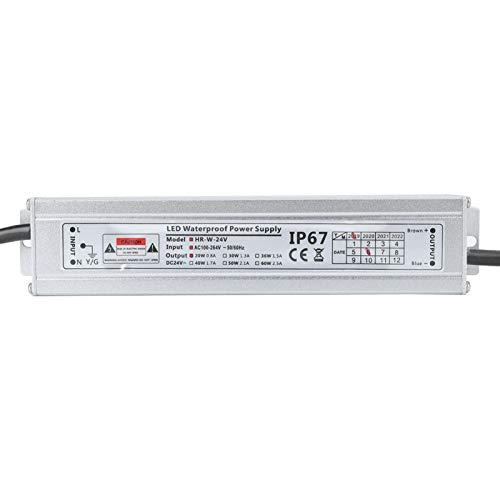 Jeanoko IP67 Menor Consumo. Convertidor de energía de Carcasa de aleación de Aluminio 100~264VAC + Resistencia térmica de -0.5V para energía para Fuente de alimentación CC