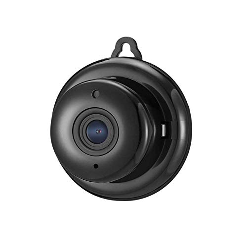Mini Spy WiFi Camera, Telecamera Action Cop Cam HD, Hiddwn Nanny Cam Visione Notturna Invisibile, Telecamera di sorveglianza segreta minuscola Rilevazione Movimento Hiddwn,Black,Nomemorycard