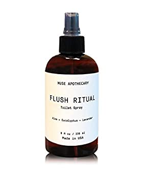 Muse Bath Apothecary Flush Ritual - Aromatic & Refreshing Before You Go Toilet Spray 8 oz Infused with Natural Essential Oils - Aloe + Eucalyptus + Lavender