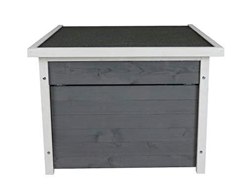 Rasenroboter-Garage, Rasenmäher Haus für selbstfahrende Rasenmähroboter, Holz grau-weiß - 4