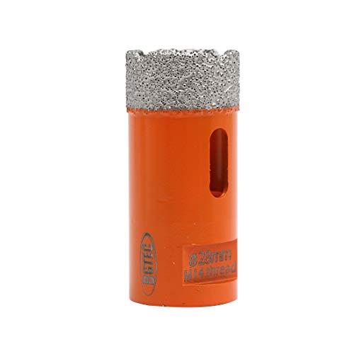 BGTEC Brocas de Núcleo de Diamante Seco para Baldosas de Porcelana, Mármol, Cerámica, Ladrillo con Rosca M14 de 28 mm de Diámetro