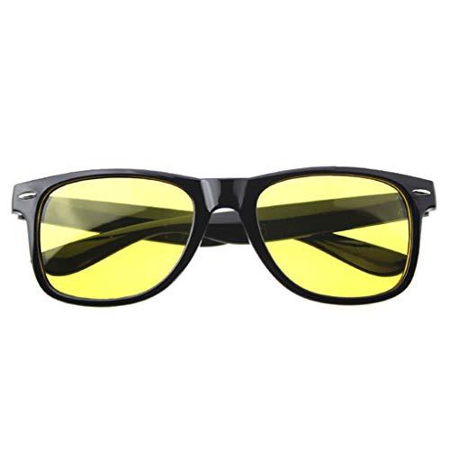 Conijiwadi lentille jaune clair Lunettes Femmes Hommes Lunettes de vision nocturne conducteurs de voiture Lunettes de soleil