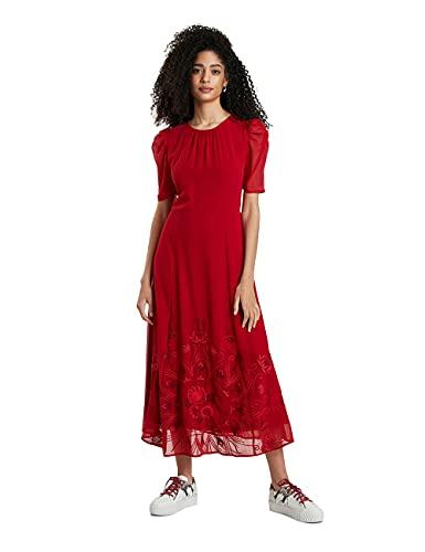 Desigual Vest_YENISÉI Robe décontractée, Rouge, Taille L Femme