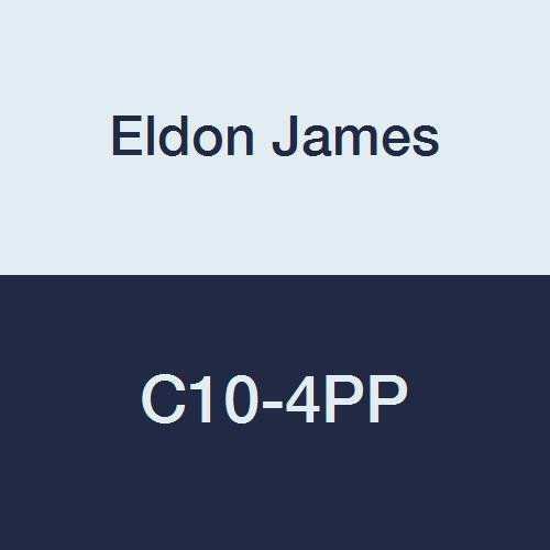 "Eldon James C10-4PP Natural Non-Animal Derived Polypropylene Reduction Coupler, 5/8"" Hose Barb to 1/4"" Hose Barb (Pack of 10)"