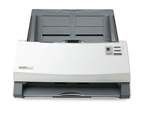 Plustek SmartOffice PS406U Plus Duplex Dokumentenscanner mit Ultraschall- Doppelblatterkennung (ADF, 600dpi, 40ppm) inkl. DocAction Software für Windows und Mac