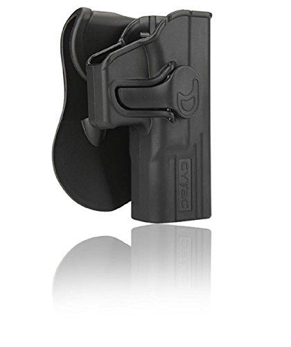 Cytac Hi-Tech Hartschalen Glock 17,19, 23, 32, für Gen 1,2,3,4,5 Paddle mit Silicon-Schicht, Neigungswinkel 360° Verstellbar aus Kunststoff