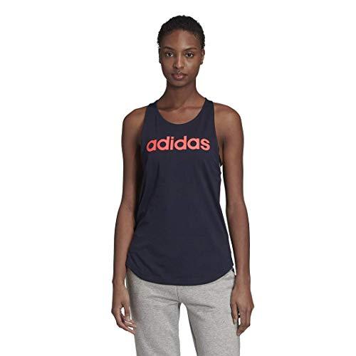 adidas Essentials Linear Loose Tank Camisa, Tinta/Señal Rosa, Large para Mujer