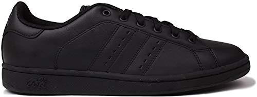 Lonsdale Leyton - Zapatillas de piel con cordones para hombre, color Negro, talla 43 1/3 EU