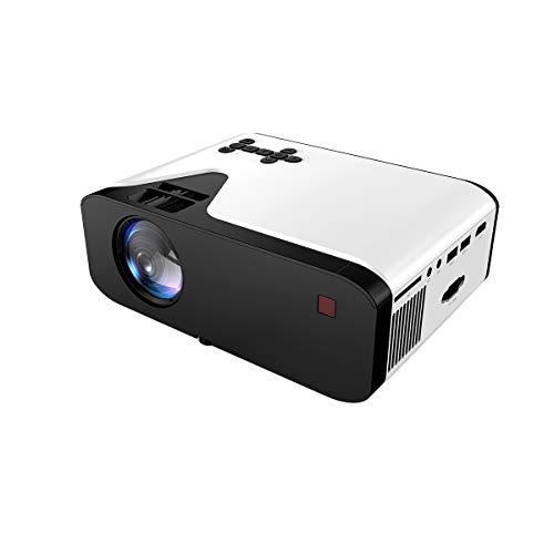 Proyector Portátil - RabbitStorm - Mini Proyector Portátil Full HD 1080P Projector Multimedia Home Video Projector - Support 1080P HDMI USB SD Card VGA AV for Home Cinema Ideal para Home Cinema Laptop Teléfono Game