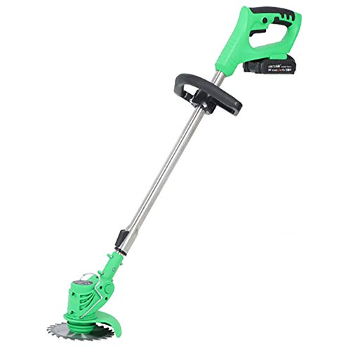 MY-COSE 36V/4000Mah 2 in 1 Electric Grass Trimmer with Interchangeable Blades,180° Adjustable Low Noise Telescopic Cordless Grass Trimmer,Garden Outdoor Tools