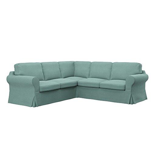 Soferia Funda de Repuesto para IKEA EKTORP sofá Esquina 2+2, Tela Elegance Mint, Verde