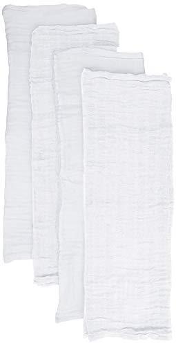 Pippi Unisex Baby 4er Pack Windeln für Spucktücher, Kuscheltücher oder Windeltücher geeignet Badebekleidungsset, Weiß (White 101), (Herstellergröße:65x65)