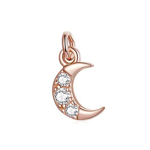 NewL Oro rosa 925 plata esterlina DIY cuentas pulsera joyería accesorios