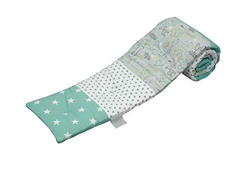 Tour de lit ULLENBOOM pour berceau cododo | garde tête bébé hypoallergénique | Safari Menthe Poivrée