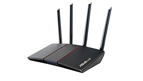ASUS AX1800 WiFi 6 Router (RT-AX55) - Dual Band Gigabit Wireless Router, Speed & Value, Gaming & Streaming, AiMesh Compatible, Free Lifetime Internet Security, Parental Control, MU-MIMO, OFDMA