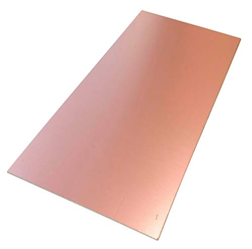 AERZETIX: Placa Hojas de Cobre para Circuito Impreso 210/100/0.6mm 18µm Resina epoxi de Fibra de Vidrio C40708