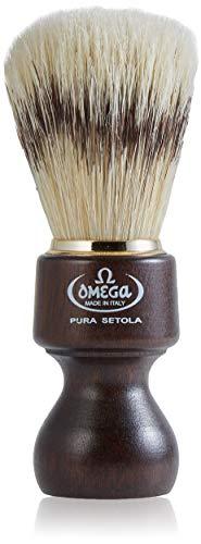 Omega 26 - Pennello da Barba in Pura Setola, Marrone Scuro