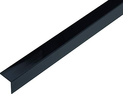 GAH-Alberts 433000 Winkelprofil | selbstklebend | Kunststoff, schwarz glänzend | 1000 x 20 x 20 mm