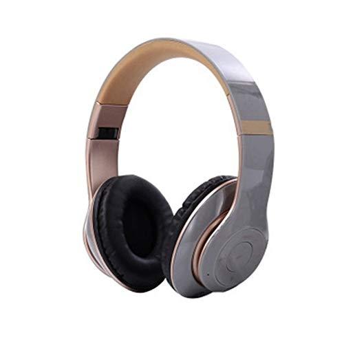 ZHANGXIAOYU Bluetooth for Auriculares y el Adaptador de Blutooth Tablet PC Phone Música cancelación de Ruido Auriculares inalámbricos con micrófono Plegable (Color : Gray)