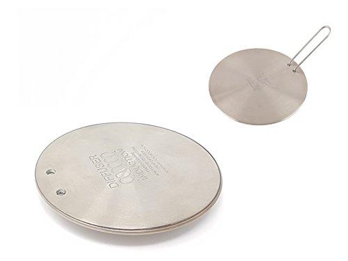 Ilsa Placa adaptadora universal inducción, 12 cm, redonda, con mango.
