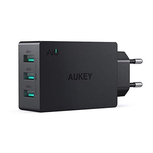 AUKEY USB Ladegerat 3 Ports 30W 6A mit AiPower Technologie Wandladegerat fur iPhone X 8 8 Plus iPad Air Pro Samsung LG HTC Nexus usw