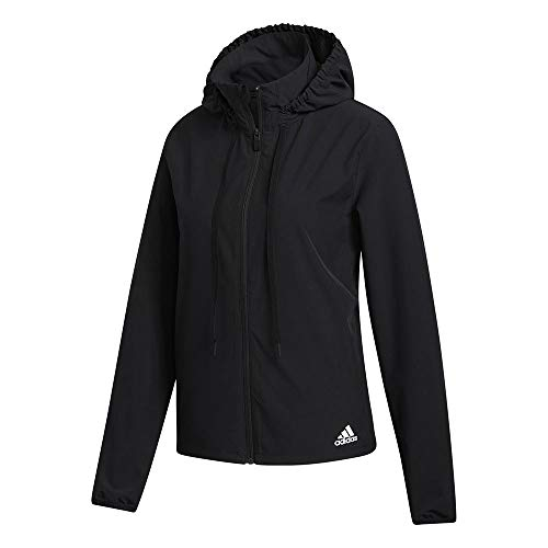adidas Lw Woven Jkt Giacca da donna, Donna, giacca, FT3089, nero/bianco, S