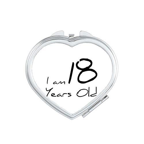 DIYthinker 70 Ans Garçon vieillesse Coeur Maquillage Compact Miroir de Poche Miroirs Mignon Petit Cadeau Portable à la Main Multicolor