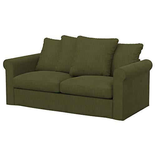 Soferia Funda de Repuesto para IKEA GRONLID sofá Cama de 2 plazas, Tela Majestic Velvet Khaki, Verde