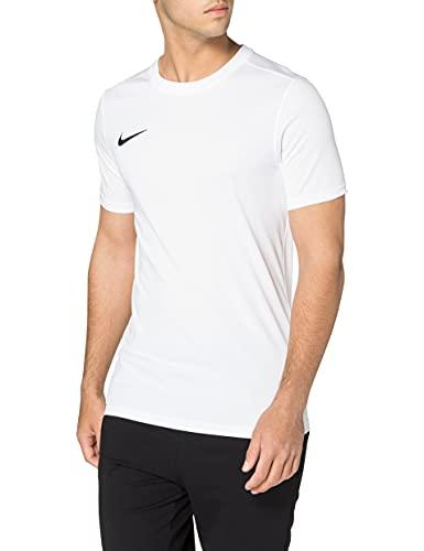NIKE M Nk Dry Park VII JSY SS Camiseta de Manga Corta, Hombre, Blanco (White/Black)