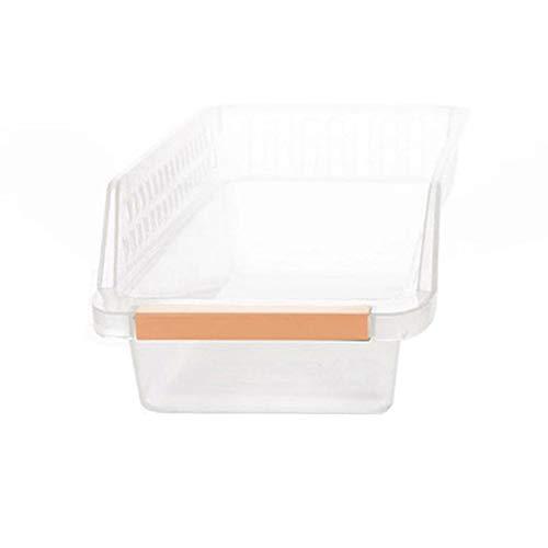 Ecosway Getränke-Schublade leer Kühlschrank Lebensmittel Korb Organizer Regal Aufbewahrungsbox 1 Stück.