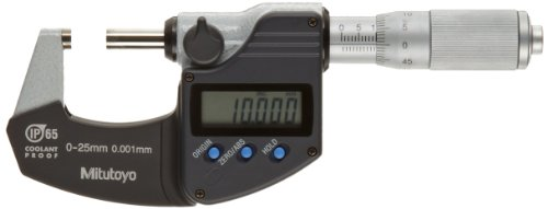 Micrômetro Externo Digital Coolant Proof Capacidade 0-25mm Resolução 0,001mm Mitutoyo 293-244