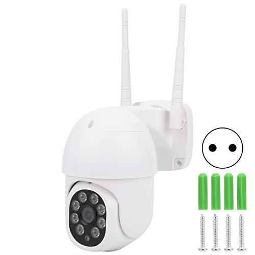 Cámara wifi, cámara de monitor PIR de visión nocturna infrarroja a prueba de interferencias de plástico ABS, para el cuidado del bebé, hogar, oficina al aire libre(Transl)