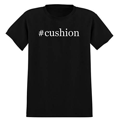 #cushion - Men's Hashtag Soft Graphic T-Shirt Tee, Black, XX-Large
