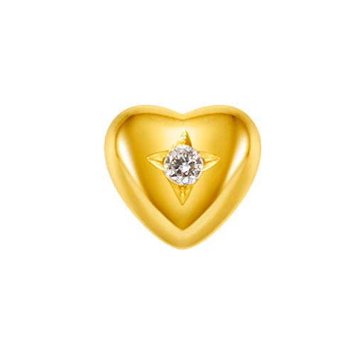 FANCIME K18ゴールド ダイヤモンド ハート(1個) 片耳 ピアス レディース メンズ 18金 ギフトラッピング済み 誕生日 ギフト プレゼント