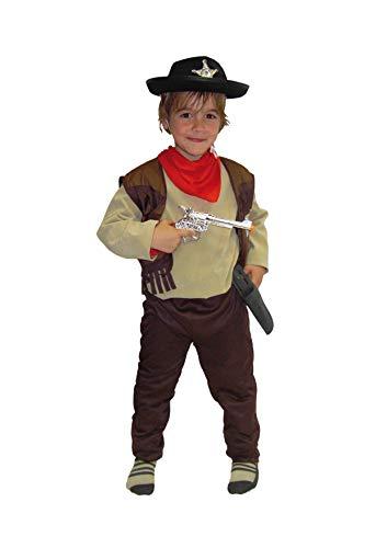 EL CARNAVAL Disfraz Vaquero marrón niño Talla de 4 a 6 años