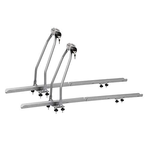 WOLTU 2X Portabicicletas para baca de Coche Soporte para Bicicletas con Cerradura Acero y Aluminio FZ1134-2
