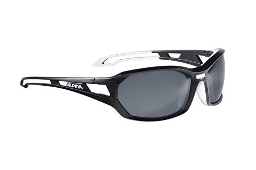 Alpina Sonnenbrille Amition BERRYN P Outdoorsport-brille, Black Matt-White, One Size