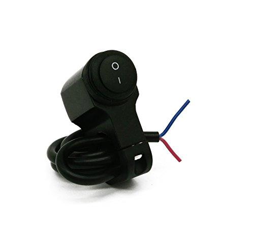 No-Branded Interruptor de la Motocicleta 7/8 Interruptor de Aluminio Interruptor Retro Interruptor de la Linterna Impermeable Interruptor de Encendido de Plata Negra W.S.T.T.S.W