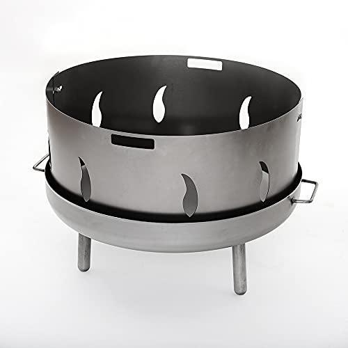 Czaja Edelstahl Funkenschutz mit Flammenmotiv für alle Feuerschalen 55 cm und 60 cm