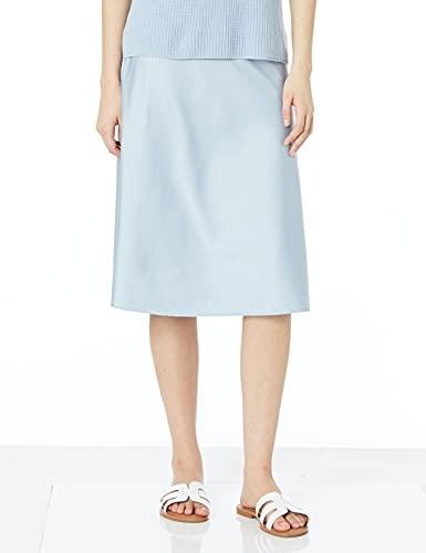 The Drop Maya Falda con efecto seda para Mujer, Azul niebla, XXS