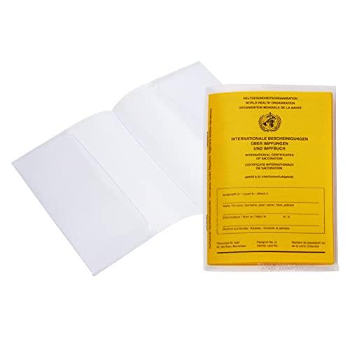 BE-HOLD 2er Set Impfpasshülle Erwachsene für den Impfpass neu 93 x 130 mm - passgenau - dokumentenechte Schutzhülle aus Kunststoff