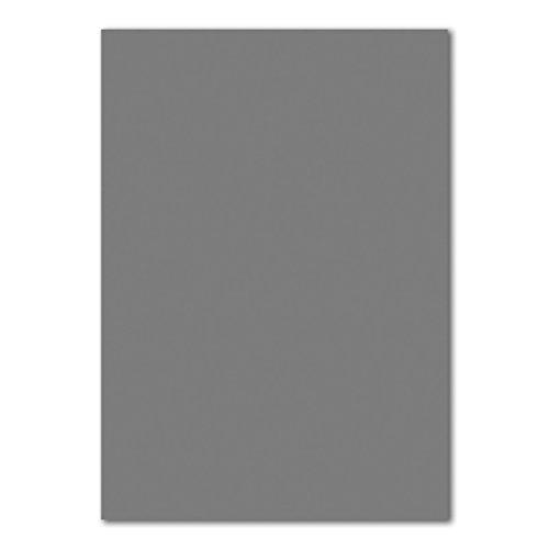 50 DIN A4 Papierbogen Planobogen -Graphitgrau/Dunkel-grau - 160 g/m² - 21 x 29,7 cm - Ton-Papier Fotokarton Bastel-Papier Ton-Karton - FarbenFroh®