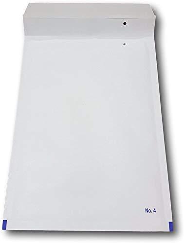 50 Enveloppes Bulles blanche PRO D/4 180 x 265 mm dimension intérieure type D4 enveloppe matelassé blanc 200 x 275 + 50 mm externe pochette protection pour envoi objets A5 enveloppe d'expédition