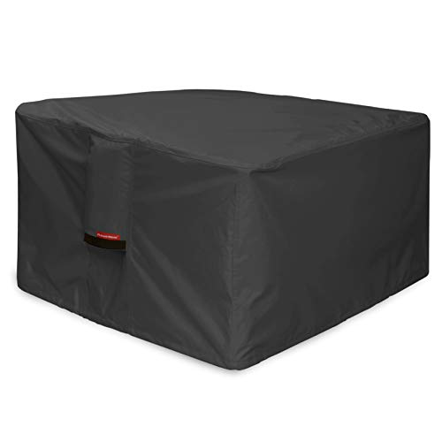 Porch Shield Fire Pit Cover - Waterproof 600D Heavy Duty Square Patio Fire Pit Table Cover Black - 50 x 50 inch