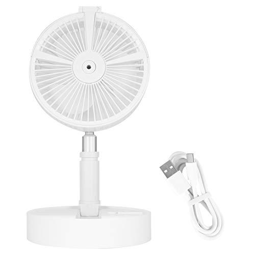 Ventilador de carga USB recargable portátil, ventilador de piso plegable, altura de humidificación ajustable, adecuado para el hogar, el exterior y la oficina