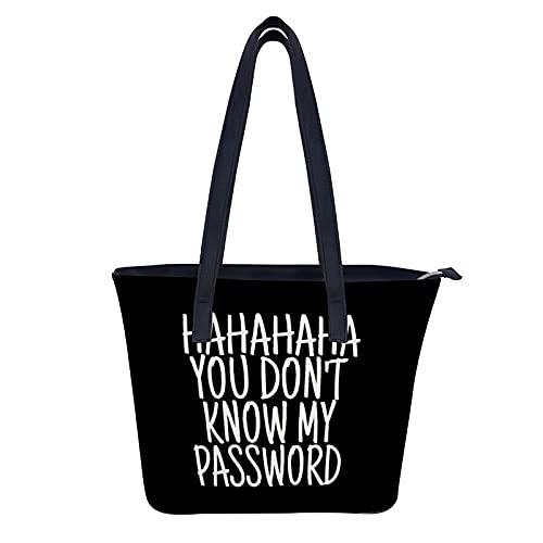 Password - Bolsos de piel auténtica para mujer, gran capacidad, estilo vintage, con asa superior